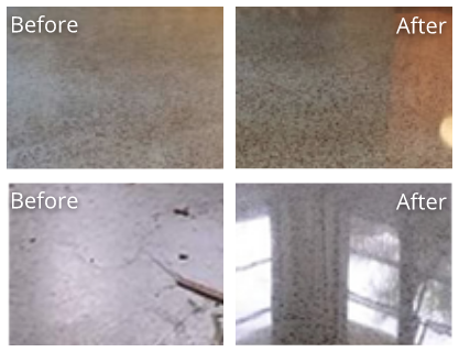 Terrazzo Before and After