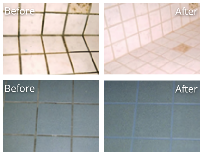 Tile & Grout Before and After